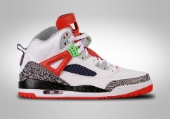 NIKE AIR JORDAN SPIZIKE WHITE RED GREY CEMENT BG (SMALLER SIZEs)