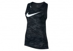 NIKE WOMEN'S DRY ELITE MESH BASKETBALL TANK BLACK ANTHRACITE