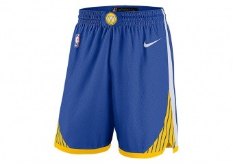 NIKE NBA GOLDEN STATE WARRIORS SWINGMAN SHORTS RUSH BLUE