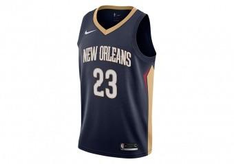 NIKE NBA NEW ORLEAN PELICANS ANTHONY DAVIS SWINGMAN JERSEY ROAD COLLEGE NAVY