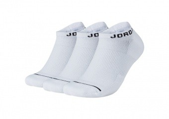 NIKE AIR JORDAN JUMPMAN NO-SHOW SOCKS WHITE