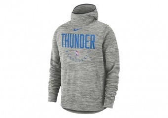 NIKE NBA OKLAHOMA CITY THUNDER SPOTLIGHT HOODIE CARBON HEATHER