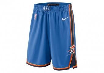NIKE NBA OKLAHOMA CITY THUNDER SWINGMAN ROAD SHORTS SIGNAL BLUE