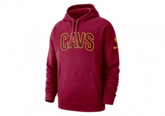 NIKE NBA CLEVELAND CAVALIERS COURTSIDE HOODIE TEAM RED