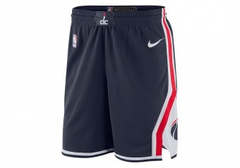 NIKE NBA WASHINGTON WIZARDS SWINGMAN SHORTS COLLEGE NAVY