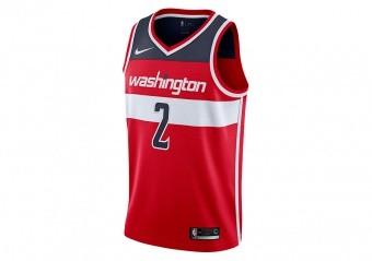 NIKE NBA WASHINGTON WIZARDS JOHN WALL SWINGMAN ROAD JERSEY UNIVERSITY RED