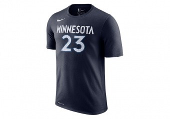 NIKE NBA MINNESOTA TIMBERWOLVES JIMMY BUTLER DRY TEE COLLEGE NAVY