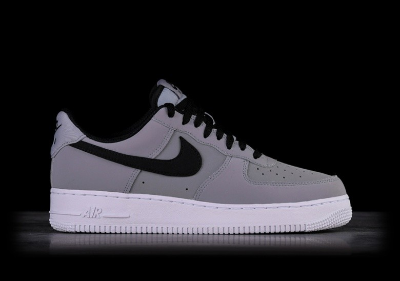 NIKE AIR FORCE 1 '07 LEATHER GREY BLACK