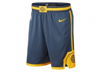NIKE NBA GOLDEN STATE WARRIORS SWINGMAN SHORTS MONSOON BLUE