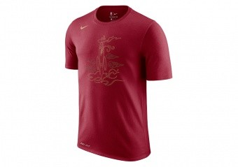 NIKE NBA HOUSTON ROCKETS DRY TEE TEAM CRIMSON