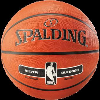SPALDING NBA SILVER OUTDOOR (SIZE 5)