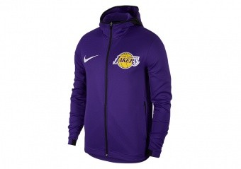 NIKE NBA LOS ANGELES LAKERS THERMA FLEX SHOWTIME HOODIE FIELD PURPLE