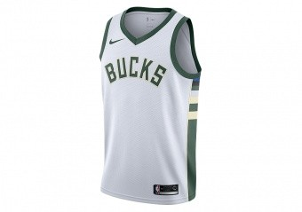 NIKE NBA MILWAUKEE BUCKS SWINGMAN HOME JERSEY WHITE