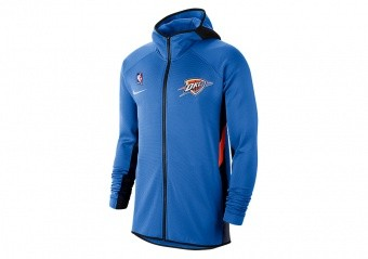 NIKE NBA OKLAHOMA CITY THUNDER THERMAFLEX SHOWTIME HOODIE SIGNAL BLUE