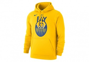 NIKE NBA GOLDEN STATE WARRIORS STEPHEN CURRY CLUB PULLOVER FLEECE HOODIE AMARILLO