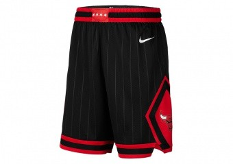 NIKE NBA CHICAGO BULLS SWINGMAN SHORTS BLACK
