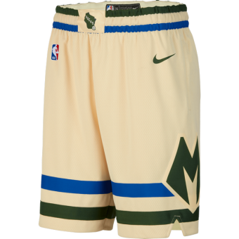 NIKE NBA MILWAUKEE BUCKS CITY EDITION SWINGMAN SHORTS