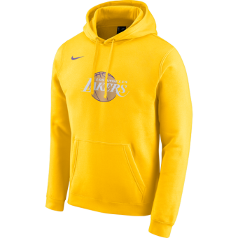 NIKE NBA LOS ANGELES LAKERS CITY EDITION LOGO FLEECE HOODIE