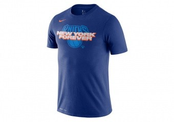 NIKE NBA NEW YORK KNICKS MANTRA DRI-FIT TEE RUSH BLUE