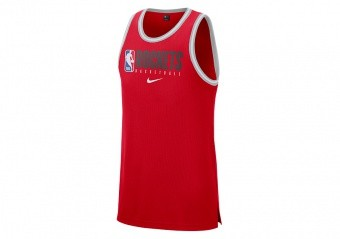 NIKE NBA HOUSTON ROCKETS DRI-FIT TANK UNIVERSITY RED
