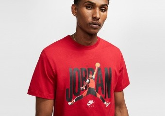 NIKE AIR JORDAN CREW TEE GYM RED