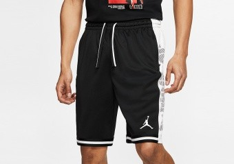 NIKE AIR JORDAN JUMPMAN HBR BASKETBALL SHORTS BLACK WHITE