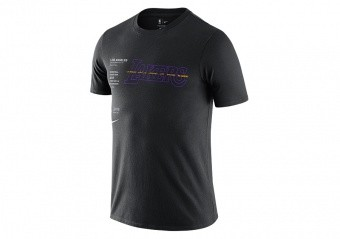 NIKE NBA LOS ANGELES LAKERS WORLD COURTSIDE TEE BLACK