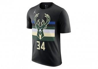 NIKE NBA MILWAUKEE BUCKS GIANNIS ANTETOKOUNMPO STATEMENT EDITION TEE BLACK
