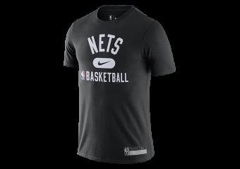 NIKE NBA BROOKLYN NETS DRI-FIT THE TEAM'S PRACTICE TEE
